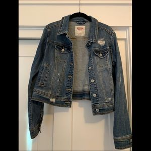 Target mossimo distressed jean jacket